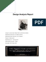 Design Analysis Report