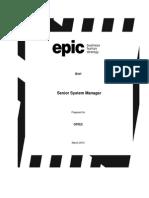 Brief Senior System Manager ORTEC