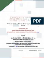 Newsletter Sociedad Española de Psiquiatría Legal Mayo 2015