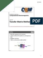 Transfer Matrix Method