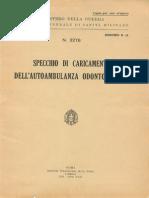 Specchio di caricamento dell'autoambulanza odontoiatrica (3276) 1939