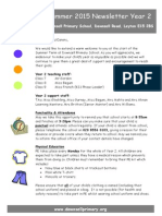 Year 2 Curriculum Newsletter - Summer 2015
