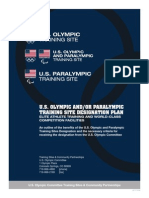 U S Olympic and Paralympic Training Site Designation Plan 2013-2014