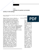 (18)ApplieNatural attenuation potential of cyanide via microbial activity in mine tailingsd Microbiology y Biotechnology