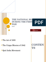 The Cripps Mission and the Quit India Movement