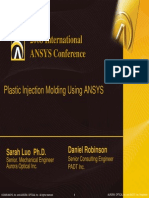2008 Int ANSYS Conf Plactic Injection Molding