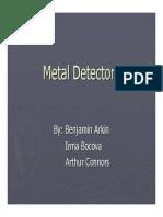 Student Presentation 9 Metal Detectors