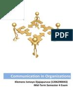 ismoyo - communication in organization uts