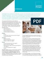 Cambridge Primary Science Curriculum Framework