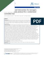 2013 Catherine Malboeuf-Hurtubise1,3 - Mindfulness-based Intervention for Teenagers