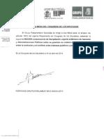 Moción del PSOE por la que pide el cese de Federico Trillo (PDF)