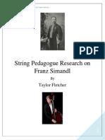 string pedagogue research on franz simandl