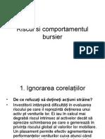 Riscul Si Comportamentul Bursier