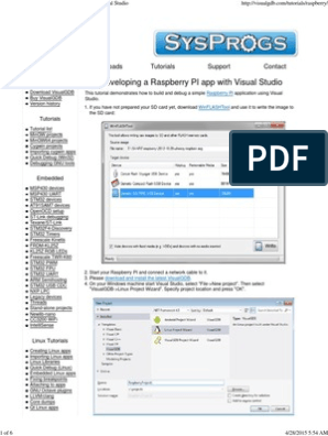 Tutorial_ Developing a Raspberry PI app with Visual Studio