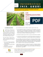Fertilizantes Informativo INIA-URURI 16