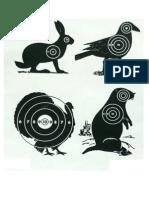 Mixed Animal Targets (Small) - A4