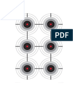 Six Practise Targets (Small) - A4