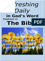 The Bible  May 2015