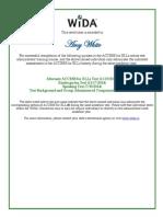 wida access certificate