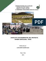 Conflicto Del Proyecto Minero Santa Ana - Puno