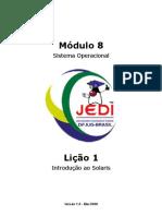 Projeto JEDI - Sistema Operacional - Solaris - Java - 110 páginas