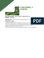 fiche technique - concombre - melothria  scabra