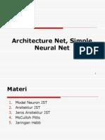 Arsitektur Jaringan JST McCulloch Dan Hebb