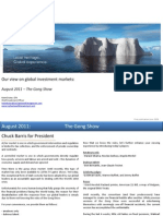 Global Market Outlook August 2011
