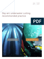 Oxy-Arc Underwater Cutting Recommended Practice
