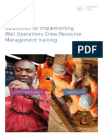 Guidelines for implementing Well Operations Crew Resource Management training