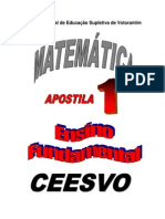 Apostila 1 - Matemática - CEESVO- EF
