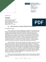 Freddie Gray Letter