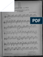 Claro de Luna score sheet for Guitar