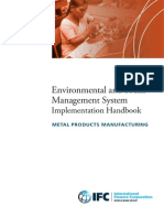 Environmental and Social Management System (ESMS) Implementation Handbook - METAL PRODUCTS MANUFACTURING