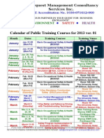 Synerquest-Public Training Schedule for 2013