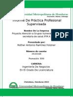 Informe de Práctica Profesional Supervisada