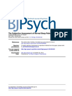The Subjective Assessment of Normal Sleep Patterns