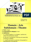 Stage - Terminological Card
