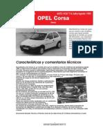 DATOS TECNICOS OPEL CORSA
