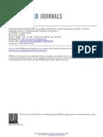 Patil (2011) Reproducing Resisting Race and Gender
