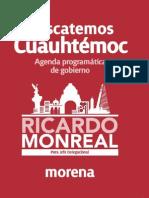 Agenda Cuauhtemoc Ricardo Monreal