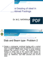Design and Detailing of Steel in Combined Footings
