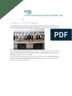30-04-2015 Poblanerías.com - Estabilidad Laboral Ha Sido La Clave Para Invertir en Puebla, Dice RMV