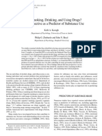 Who' s Smoking, Drinking, and Using Drugs? Time Perspective as a Predictor of Substance Use