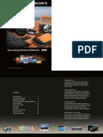 Recording Media Batteries 2009 Brochure