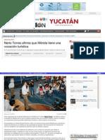 01-05-2015 Nerio Torres afirma  que Mérida tiene una vocación turística.