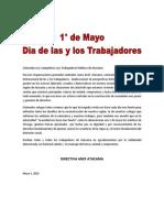 Saludo Anef-Atacama Dia de Los Trabajadores