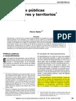 Las Políticas Públicas Entre Sectores y Territorios (Corporativismo) (Subrayado)