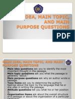 01 Main Idea, Main Topic, And Main