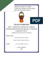 DISEÑO DE UN SISTEMA DE COBRO DE FONDOS PENDIENTES DE DESCARGO EN LA UNIDAD DE CARGOS DE CUENTA